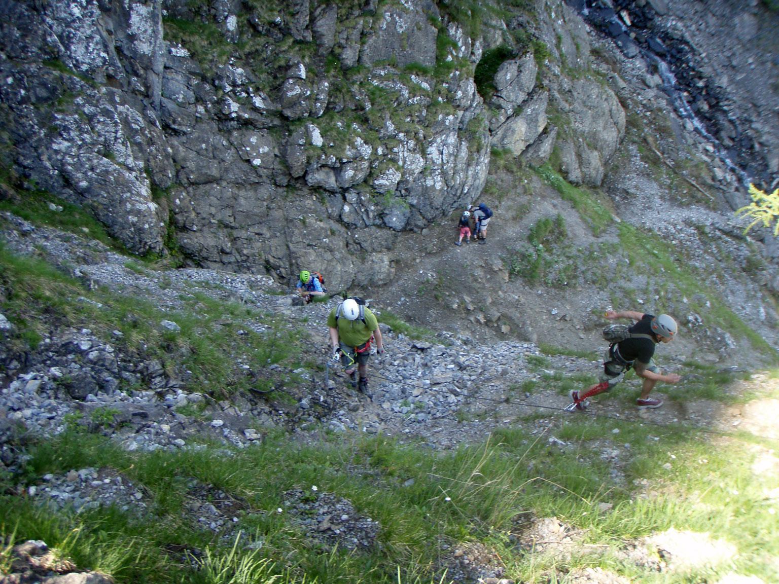 Klettersteig Engstligenalp : Klettersteig chäligang adelboden