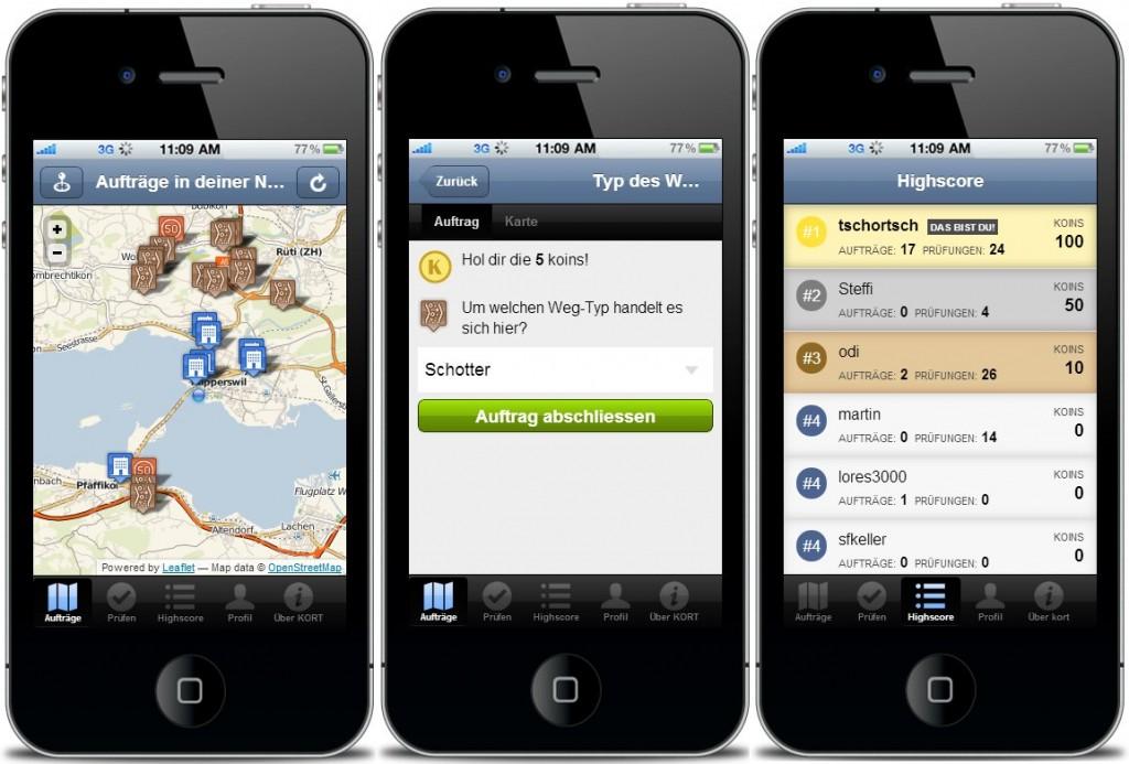 Screenshots von Kort