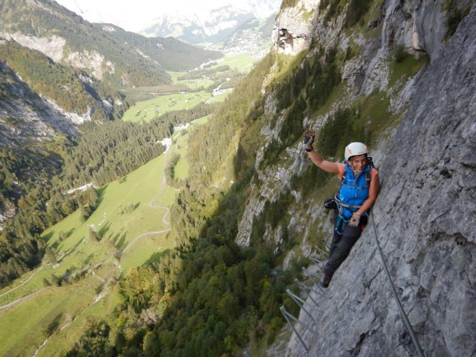 Klettersteig Ostschweiz : Klettersteig fürenwand