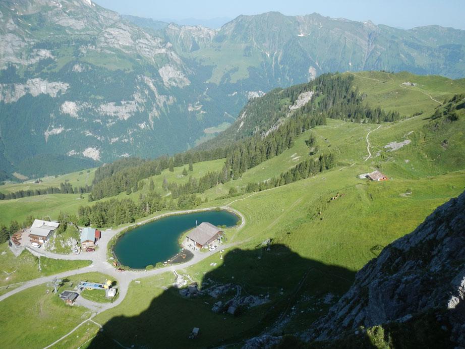 Klettersteig Zittergrat : Klettersteig brunni und zittergrad